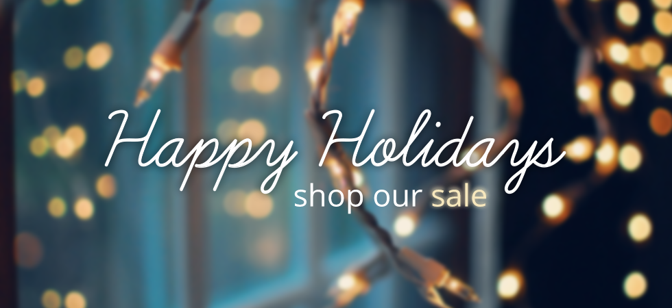 HAPPY HOLIDAYS SHOP OUR SALE AT BLK AND NOIR